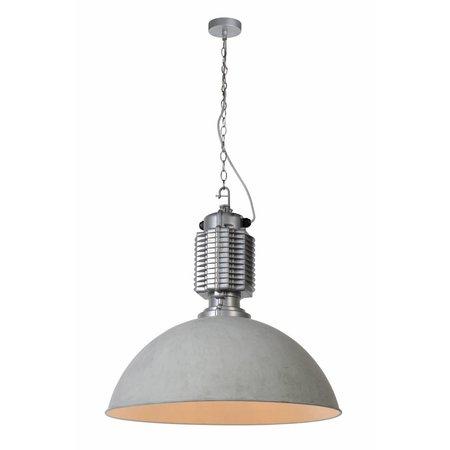 Concrete pendant light industrial 60cm diameter E27