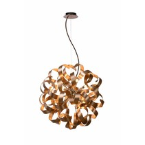 Copper pendant light design LED curls 60cm 12x4W
