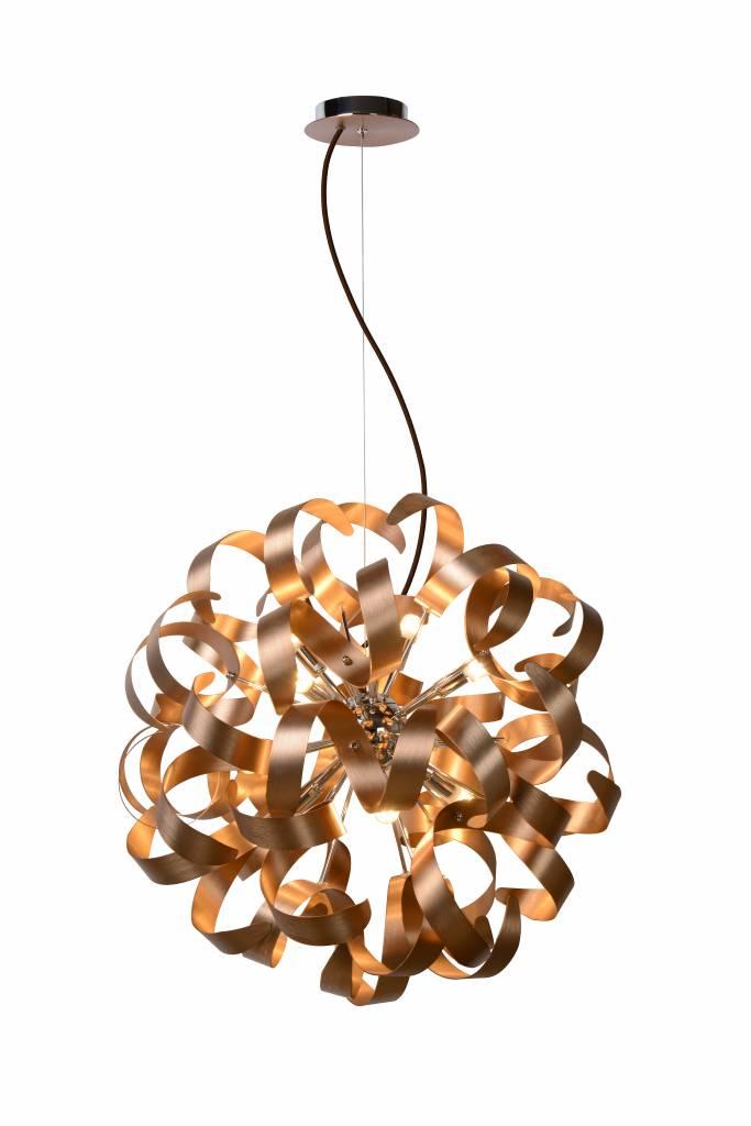 Hanglamp koper design LED krullen 60cm 12x 4W