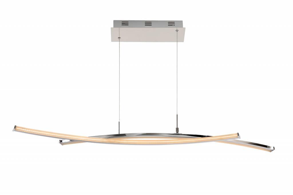 Chrome pendant light design arches LED 40W 109cm