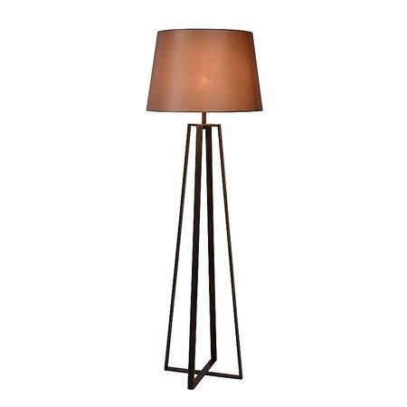 Rustic floor lamp shade rust E27 165cm high