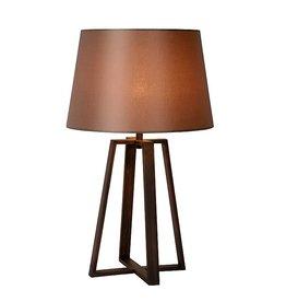 Tafellamp beton met kap bruin blauw geel cr me myplanetled - Grote tafellamp ...