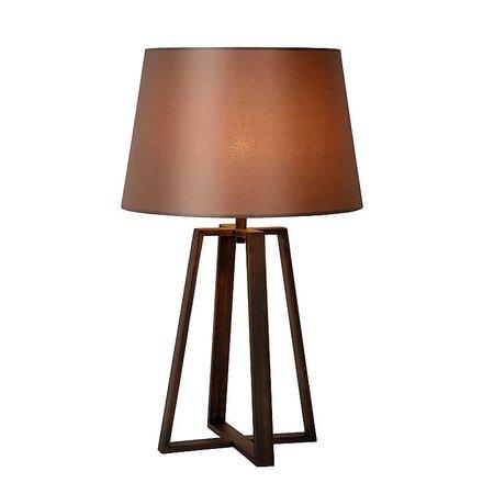 Tafellamp landelijke stijl met kap roest E27 63cm H