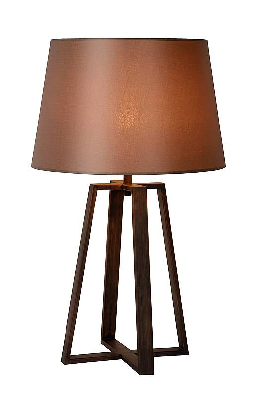 Rustic table lamp shade rust E27 63cm H