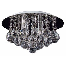 Crystal ceiling light chrome LED G9x4 350mm Ø