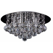 Crystal ceiling light chrome LED G9x6 450mm Ø