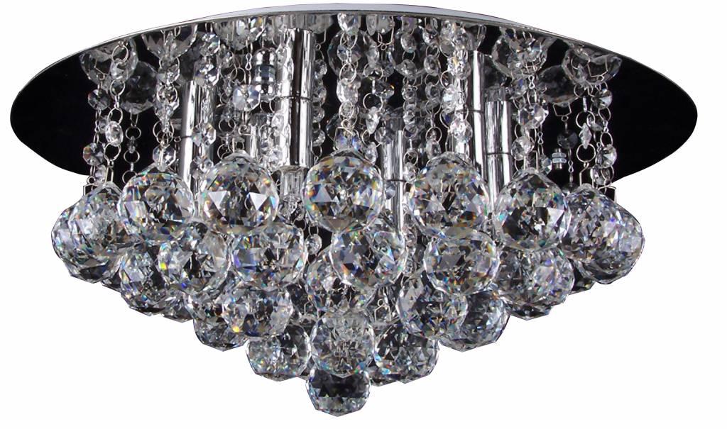 Kristallen Plafonniere : Plafonniere kristal glas chroom led g mm Ø myplanetled