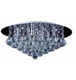 Crystal ceiling light chrome LED G9x8 550mm Ø