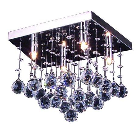 Plafonniere kroonluchter chroom LED G9x4 300x300mm