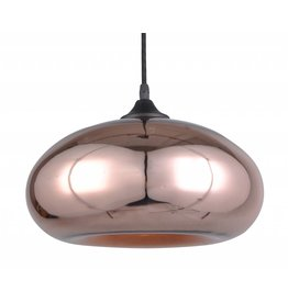 Hanglamp glas design goud of grijs 30cm Ø