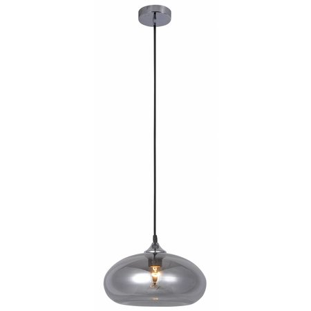 Glass ball pendant light gold or grey 30cm Ø