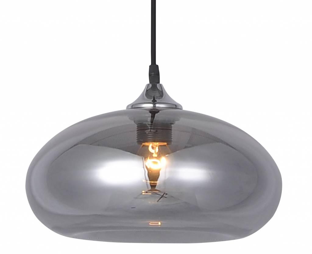 Glass ball pendant light gold or grey 30cm myplanetled glass ball pendant light gold or grey 30cm aloadofball Gallery