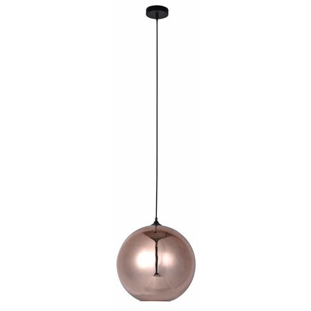 Glazen hanglamp boven eettafel bol 14cm Ø