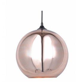 Lustre boule design verre dor ou gris 40cm myplanetled for Lustre boule design