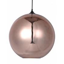 Lustre boule design verre doré ou gris 40cm Ø
