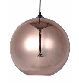 Glazen hanglamp boven eettafel bol 40cm Ø