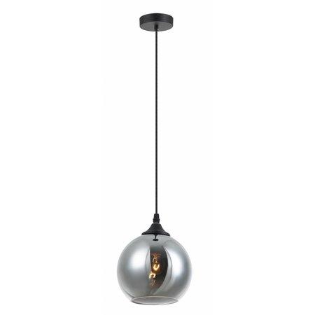 Lustre boule design verre doré ou gris 14cm Ø