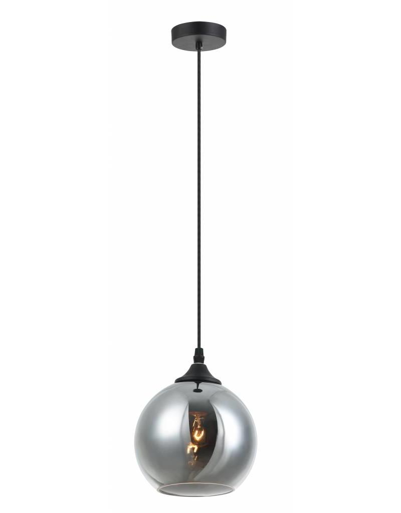 Ball pendant light glass gold or grey 14cm Ø
