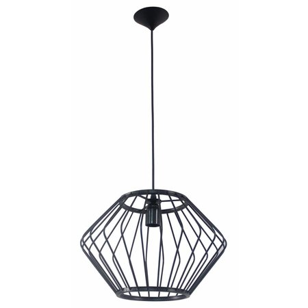 Geometric pendant light black 370mmØ E27