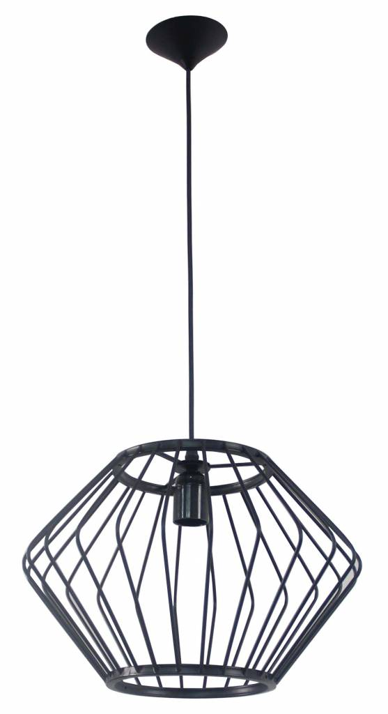 Geometric pendant light black 370mmØ E27