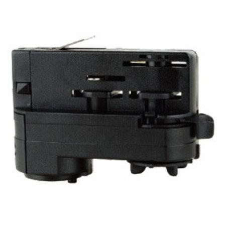 3-phase adaptor for track lighting white or black