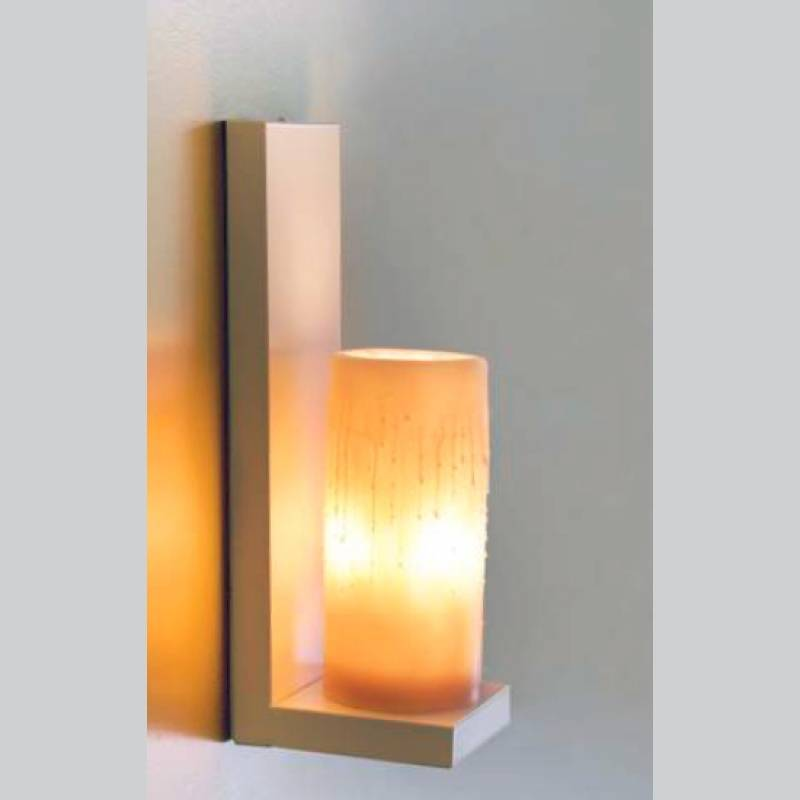 Applique murale bougie chrome bronze blanche led myplanetled for Applique murale exterieur blanche