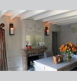 Applique murale bougie chrome-bronze-blanche LED