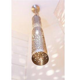 Landelijke hanglamp cilinder sfeer brons, nikkel