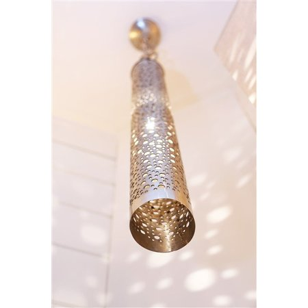 Rustic pendant light cylinder holes bronze, nickel