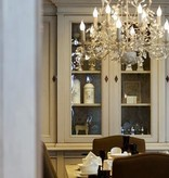 Lustre baroque chandelier oval 7 couleurs E14x12