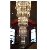 Glass ceiling light chandelier elegant G4x41 82cm Ø