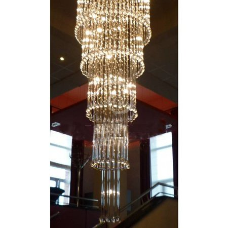 Grand plafonnier verre élégant G4x41 82cm Ø