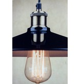 Vintage pendant light black lamp shade 26, 35cm Ø