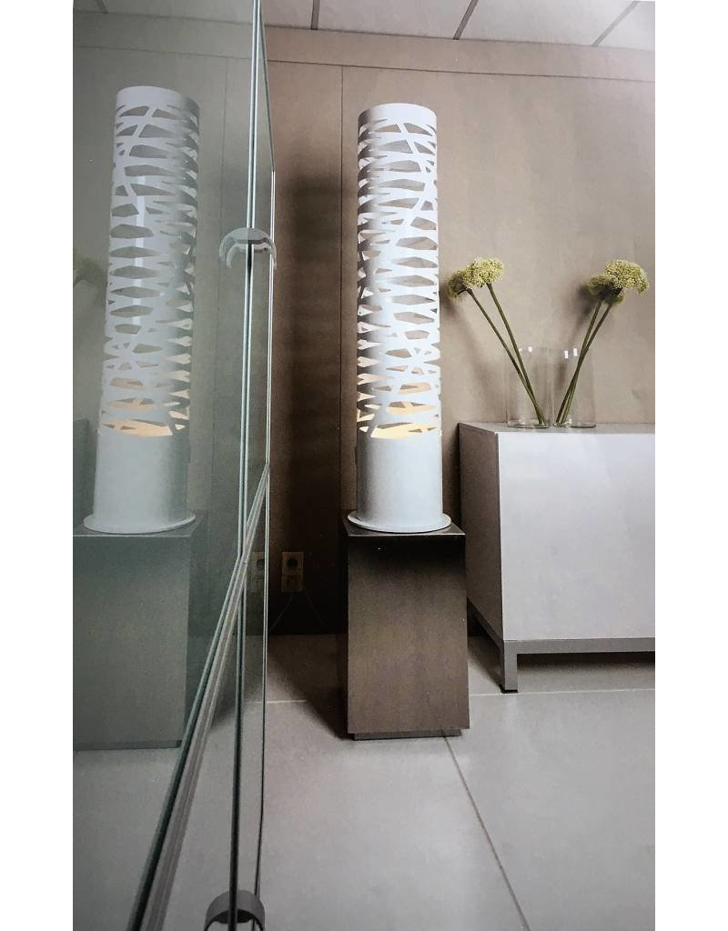 Design floor lamp white openings 139cm high