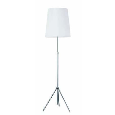 Tripod floor lamp white lamp shade E27