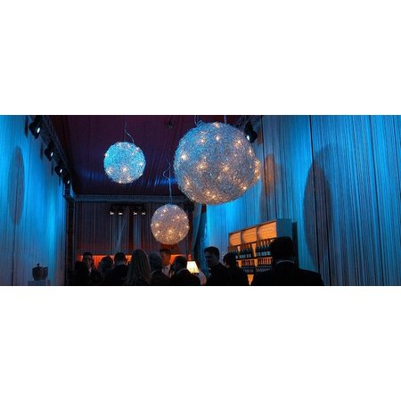 Spherical pendant light wire 120cm diameter G4x25