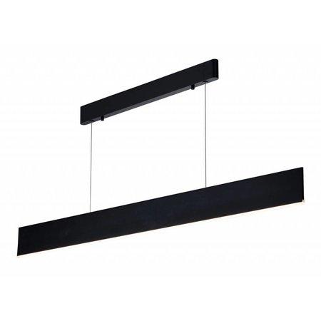 Hanglamp boven eettafel LED strak bruin, wit, zwart 26W