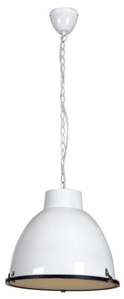 Luminaire suspendu vintage noir blanc gris b ton 42cm for Luminaire suspendu blanc