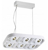 Hanglamp boven eettafel design LED 6x5W 455mm breed