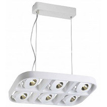 Pendant light fixture 6x5W LED design white 455mm wide