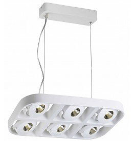 Luminaire suspendu design LED blanc 6x5W 455mm large
