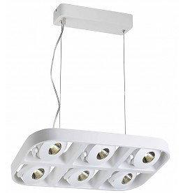 Pendant light fixture 6x5W LED design white 455mm wide