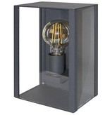 Glass wall lamp for outside anthracite