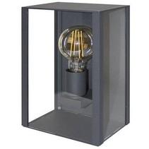 Muurlamp buiten met glas antraciet