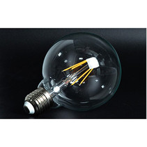 LED lamp E27 rond 6W filament