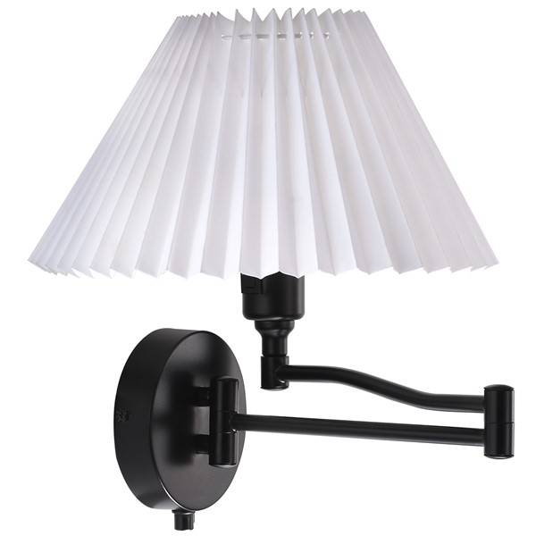 Plug In Swing Arm Wall Lamp E27 With Shade