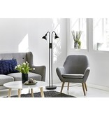 Double floor lamp dimmable black or chrome