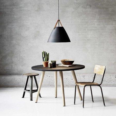 Scandinavische hanglamp wit, zwart, messing, grijs 48 cm Ø