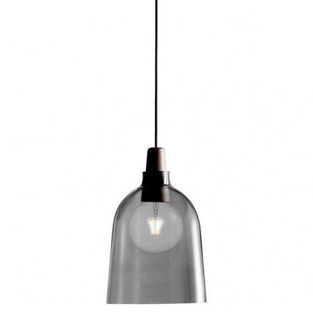 Smoked glass pendant light E27 24 cm Ø