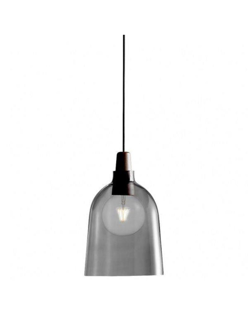 Hanglamp gerookt glas E27 24 cm Ø